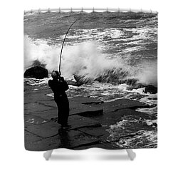 Shower Curtain featuring the photograph Storm Fishing by Travis Burgess