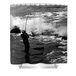 Storm Fishing Shower Curtain