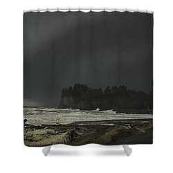 Shower Curtain featuring the photograph Storm Is Coming North West Wa by Yulia Kazansky