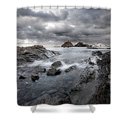 Storm Is Coming To Island Of Menorca From North Coast And Mediterranean Seems Ready To Show Power Shower Curtain by Pedro Cardona