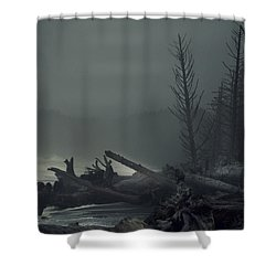 Storm Is Not Over. Shower Curtain