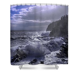 Storm Lifting At Gulliver's Hole Shower Curtain
