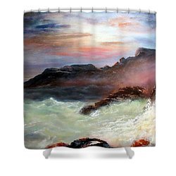 Storm On Mount Desert Island Shower Curtain by Lee Piper