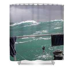 Storm On Tasman Sea Shower Curtain