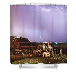 Storm On The Farm Shower Curtain by James BO  Insogna