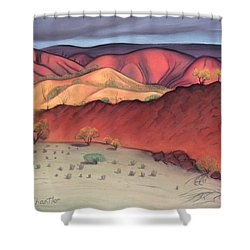 Storm Outback Australia Shower Curtain