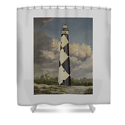 Storm Over Cape Fear Shower Curtain by Wanda Dansereau