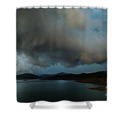 Storm Over Lake Shasta Shower Curtain