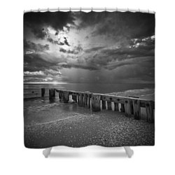 Storm Over Naples Florida Beach Shower Curtain