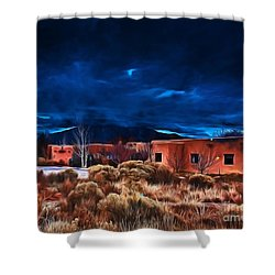 Storm Over Taos Lx - Homage Okeeffe Shower Curtain