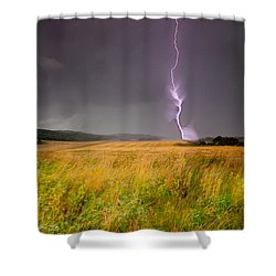 Storm Over The Wheat Fields Shower Curtain