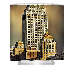 Storm Over Tulsa Shower Curtain by Tamyra Ayles