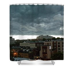 Storm Over West Chester Shower Curtain by Ed Sweeney