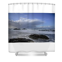 Storm Rolling In Wickaninnish Beach Shower Curtain
