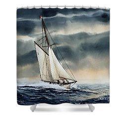 Storm Sailing Shower Curtain by James Williamson