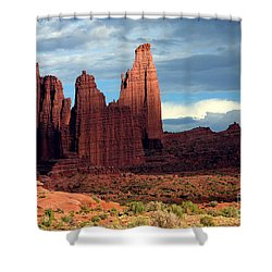 Storm Shadows Shower Curtain by Bob Hislop