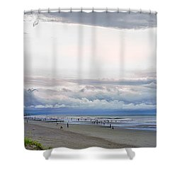 Shower Curtain featuring the photograph Storm Tail by Steven Santamour