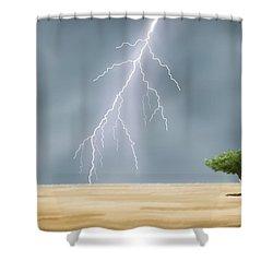 Storm Shower Curtain by Veronica Minozzi