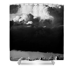 Shower Curtain featuring the photograph Stormclouds Approaching by Craig B