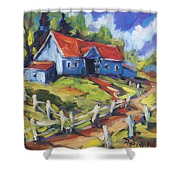 Storms A Brewin By Prankearts Shower Curtain by Richard T Pranke