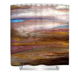 Storms At Sunset / Original Skyscape Painting Shower Curtain