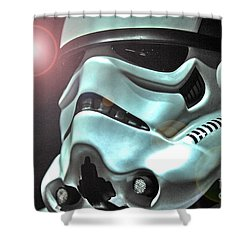Stormtrooper Helmet 27 Shower Curtain by Micah May