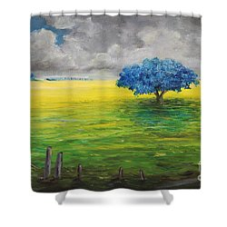 Stormy Clouds Shower Curtain by Alicia Maury