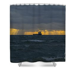 Stormy Falmouth Shower Curtain by Brian Roscorla