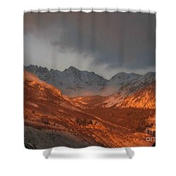 Stormy Monday Shower Curtain by Fiona Kennard