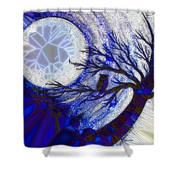 Stormy Night Owl Shower Curtain