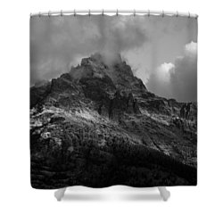 Stormy Peaks Shower Curtain