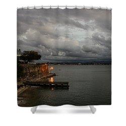 Shower Curtain featuring the photograph Stormy Puerto Rico  by Georgia Mizuleva