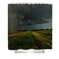 Stormy Road Ahead Shower Curtain