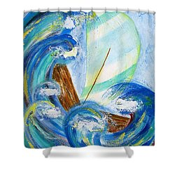 Stormy Sails Shower Curtain by Diane Pape