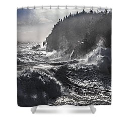 Stormy Seas At Gulliver's Hole Shower Curtain by Marty Saccone