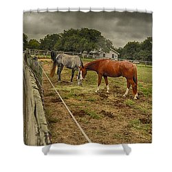 Stormy Skies Shower Curtain by Kristina Deane