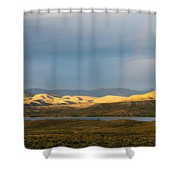 Stormy Sky With Rays Of Sunshine Shower Curtain