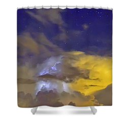 Shower Curtain featuring the photograph Stormy Stormy Night by Charlotte Schafer
