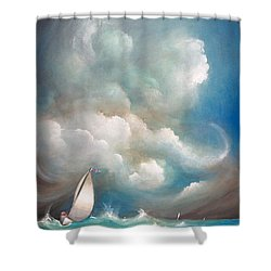 Stormy Sunday Shower Curtain