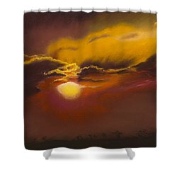 Stormy Sunset Over Kenya Shower Curtain