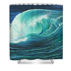 Stormy Wave Shower Curtain