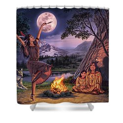 Storytelling Shower Curtain by Steve Read