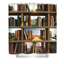 Storyworld Shower Curtain by Cynthia Decker