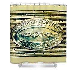 Stout Metal Airplane Co. Emblem Shower Curtain by Susan Garren