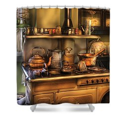 Stove - What's For Dinner Shower Curtain by Mike Savad