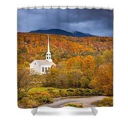 Stowe Church Shower Curtain by Brian Jannsen