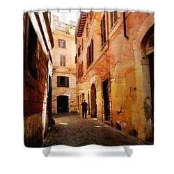 Shower Curtain featuring the photograph Strade Di Ciottoli by Micki Findlay
