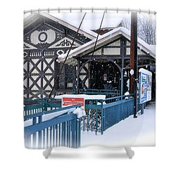 Strafford Station Shower Curtain by Ira Shander