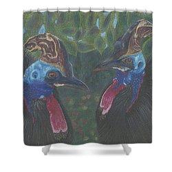 Strange Birds Shower Curtain