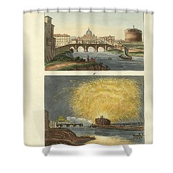 Strange Buildings In Rome Shower Curtain by Splendid Art Prints